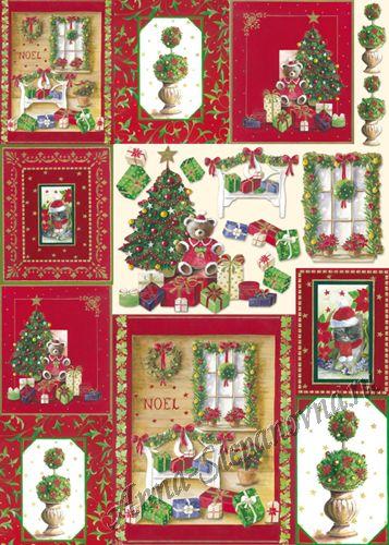 Большая карта для декупажа «Рождественские украшения»