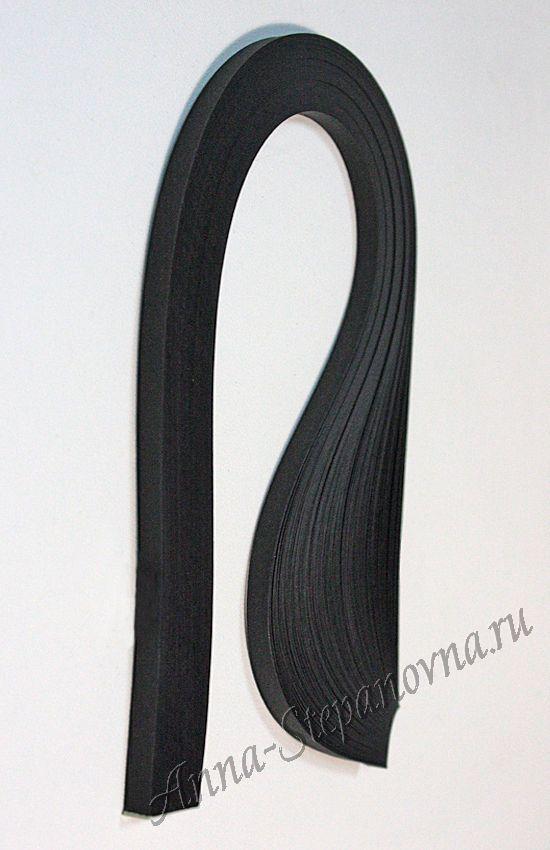 Бумага для квиллинга «черный бархат» ширина 3 мм