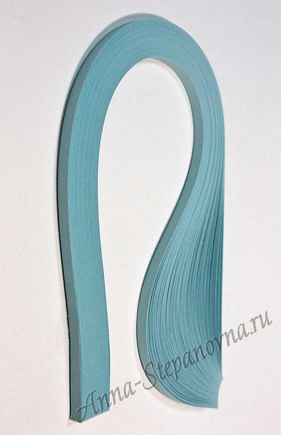 Бумага для квиллинга «небесно-голубой» ширина 5 мм