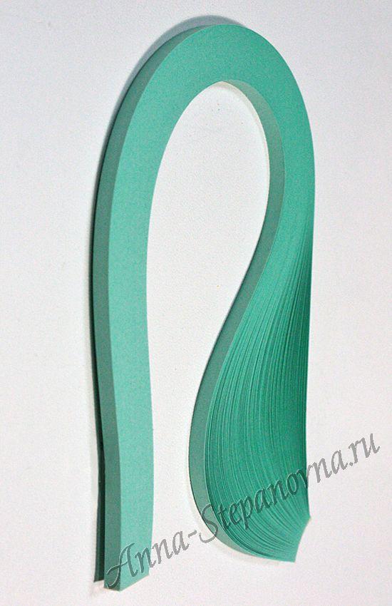 Бумага для квиллинга «изумрудный» ширина 7 мм