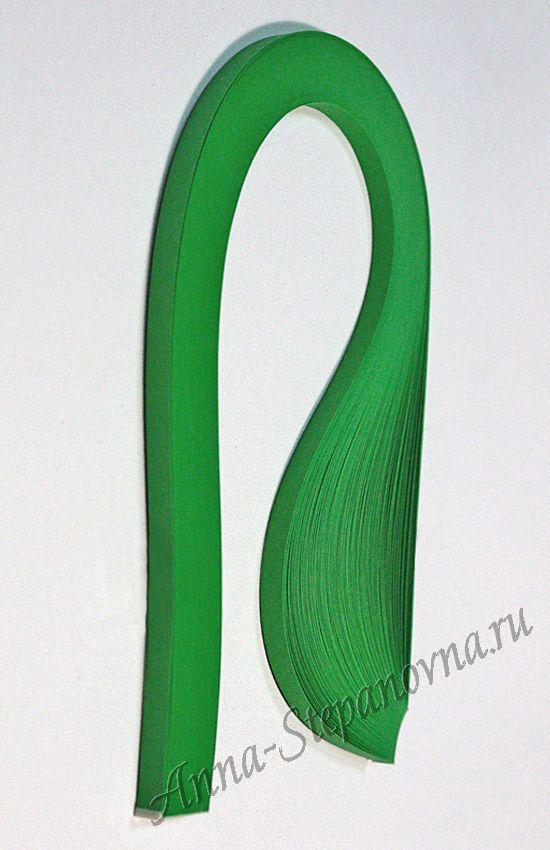 Бумага для квиллинга «зеленый малахит» ширина 15 мм