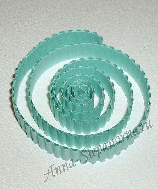 Гофрополоски, набор №19 Цвет светло-голубой