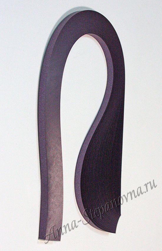 Бумага для квиллинга «ночная фиалка» металлик, 5 мм
