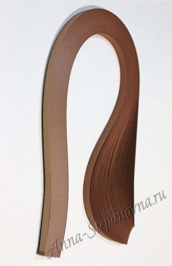 Бумага для квиллинга «бронзовый» металлик, 3 мм