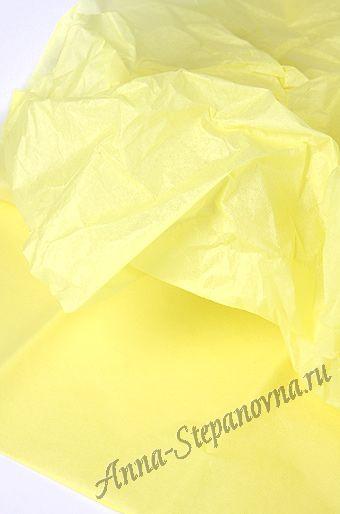 Бумага тишью светло-желтая