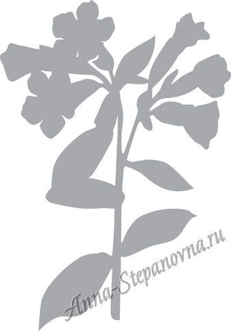 Обратный трафарет «Весенний цветок»