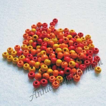 Набор разноцветных бусин Яркая осень