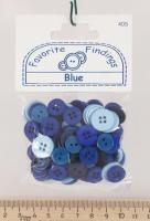 Набор пуговиц «Синие»