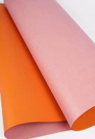 Бумага крафт однотонная, двусторонняя «Клубнично-абрикосовая»