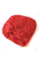 Сизаль натуральный красный