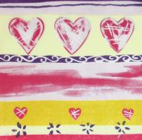 Салфетка для декупажа «Узор с сердечками»