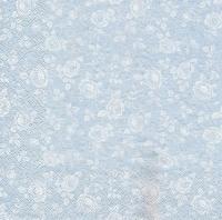 Салфетка «Белые розы на серебре»