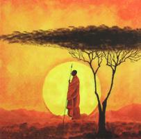 Салфетка для декупажа «Африканский закат»