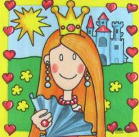 Салфетка для декупажа «Принцесса»