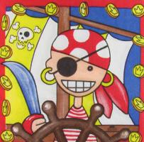 Салфетка для декупажа «Пират»