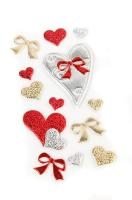 3D наклейки спанч сердечки и бантики