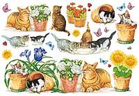 Бумага рисовая для декупажа «Кошечки»