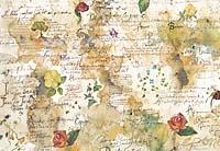 Бумага рисовая для декупажа «Цветы и поэзия»