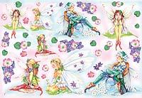 Бумага рисовая для декупажа Феи цветов
