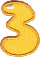 Термоаппликация цифра «3»