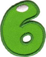 Термоаппликация цифра «6»