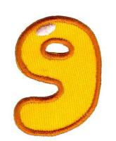 Термоаппликация цифра «9»