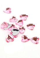 Стразы «Сердечки розовые»