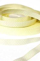 Лента репсовая горошек светло-желтая