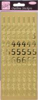 Наклейки «Большие цифры» золото, фольгированные