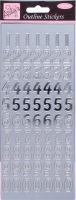 Наклейки «Большие цифры» серебро, фольгированные