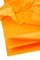 Бумага тишью светло-оранжевая