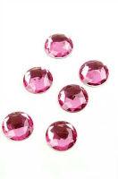 Стразы круглые ярко-розовые