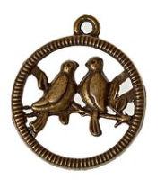 Металлическая подвеска «Птички»