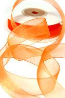 Лента шифоновая оранжевая