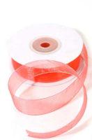 Лента шифоновая кораллово-розовая