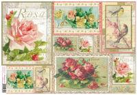 Бумага рисовая для декупажа «Винтажные розы»