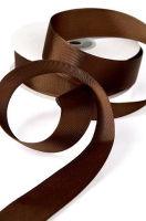 Лента репсовая «Горький шоколад» узкая