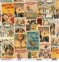 Бумага «Старый цирк. Афиши»