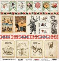 Бумага «Старый цирк. Клоунада»