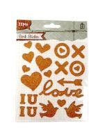 Наклейки «Любовь и голуби» из пробки