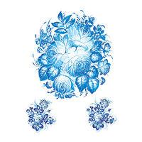 Трансфер Cadence №220 «Ярко-синяя композиция»