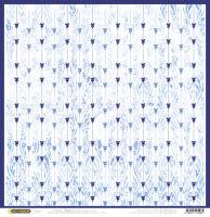 Бумага для скрапбукинга «Гжель. Голубая волна»