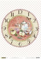 Рисовая бумага «Часы. Чаепитие»