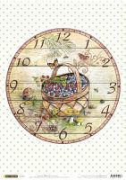 Рисовая бумага «Часы. Корзина»