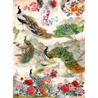 Рисовая бумага «Павлины и цветы»