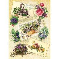 Рисовая бумага «Садовые цветы»