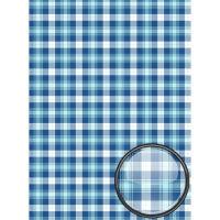 Рисовая бумага «Голубая шотландка»