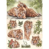 Рисовая бумага «Тигры»