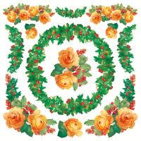 Салфетка рисовая для декупажа Рождественские цветы