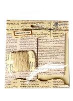 Теги набор «Газета» со шнуром